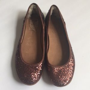 UGG sparkly brown flats in size 10